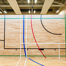 Fold-away sports floor for Newry Leisure Centre